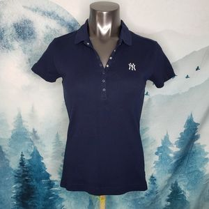 NEW Antigua New York Yankees Navy Blue Polo